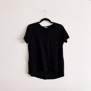 Zara Tops - + Zara Black Crewneck T Shirt